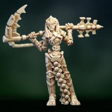 Undead space cyborg lady warrior