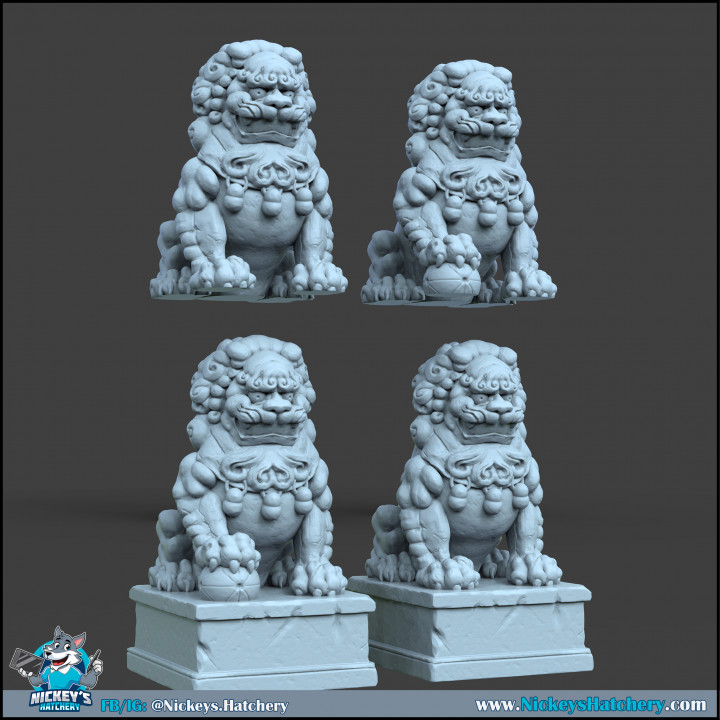 Lion Statues's Cover