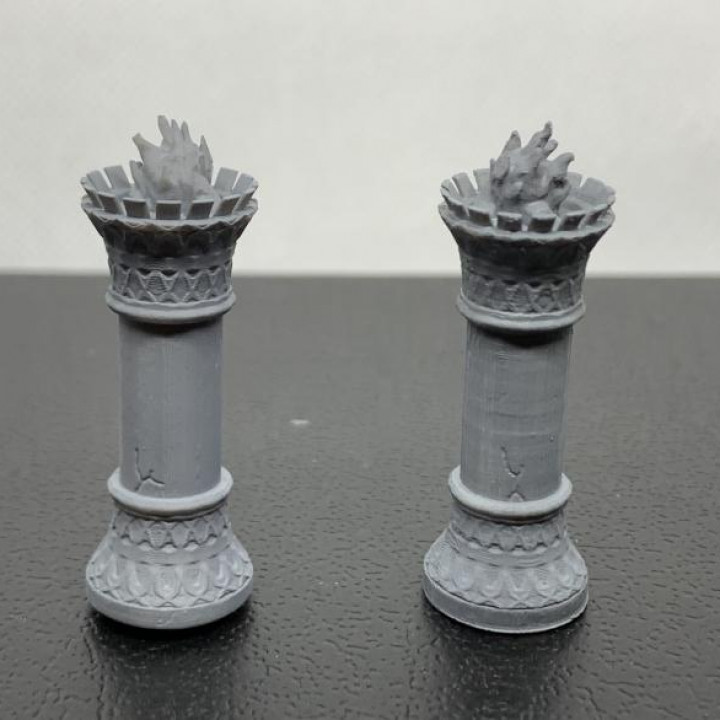 Brazier set for 28mm DnD Tabletop gaming terrain- 3 sizes