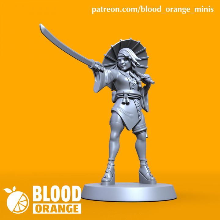 Kunoichi - Blood Orange Miniatures - Bonus Mini