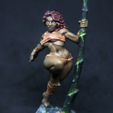 Picture of print of Lara the Dancer & Scourgy - Scourgeland Survivor Beauty (Fantasy Pinup)