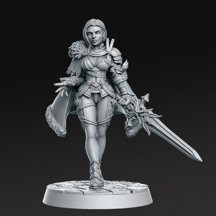 Leanne  - Warrior Princess - 32mm - DnD