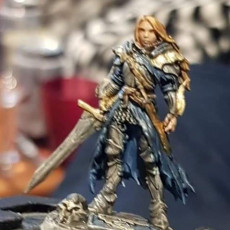 Picture of print of Lydia, the Lioness - Swordswoman - 32mm - DnD -