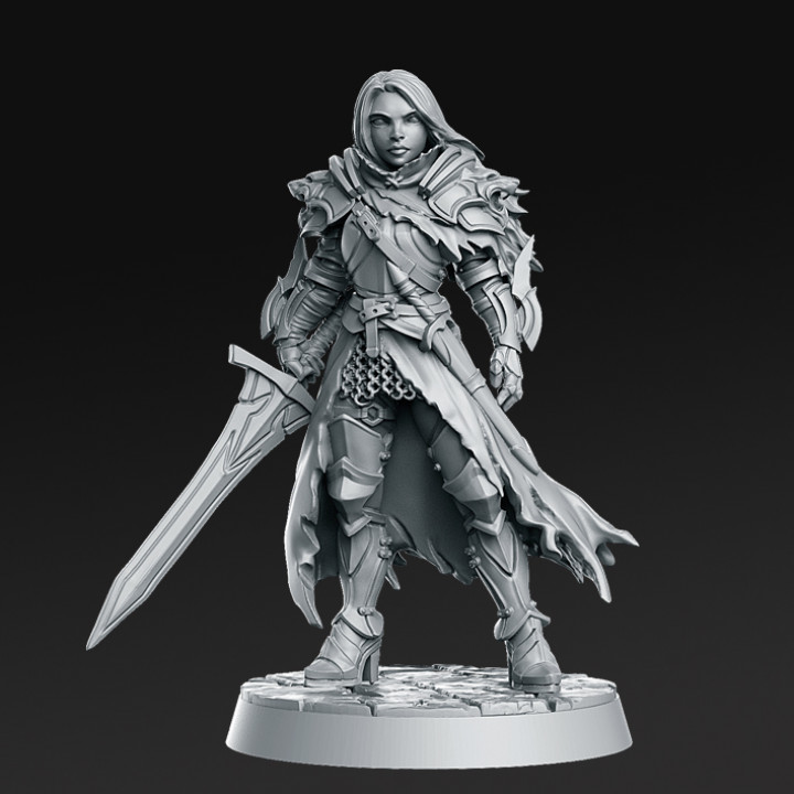 Lydia, the Lioness - Swordswoman - 32mm - DnD -