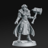 Maryka - Female Paladin - 32mm - DnD image