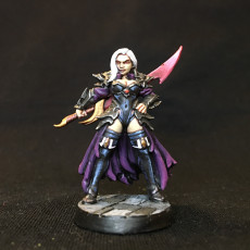 Picture of print of Dalila - Swordswoman - 32mm - DnD