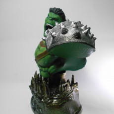 Picture of print of Wicked Marvel Hulk 3d Bust: Avengers STL ready for printing