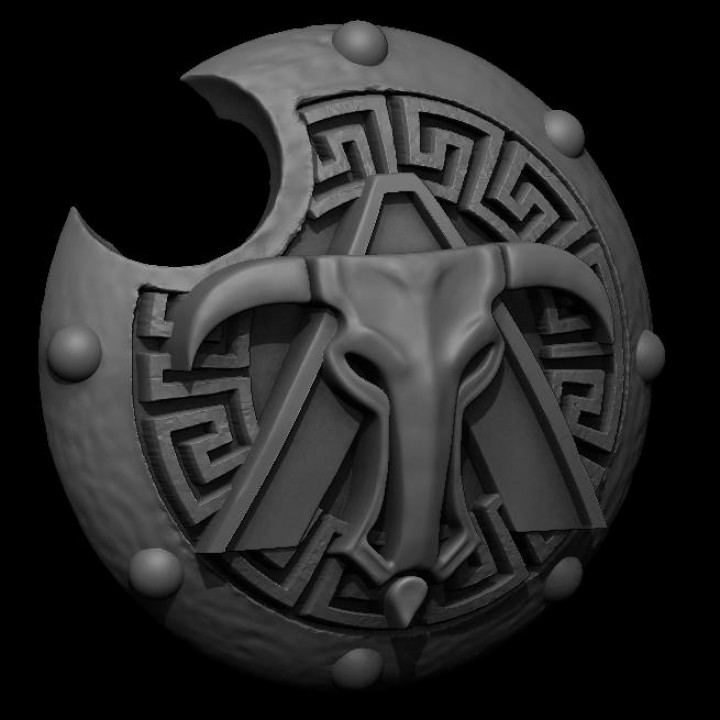 Greek Inspired Sci Fi Shield