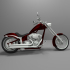 Big Dog K9 Chopper Motorcycle 3D Model For Print image