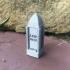 Large Grave Monument Obelisk for tabletop wargaming like 28mm DnD or pathfinder image