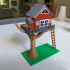 Summer Treehouse Lamp print image