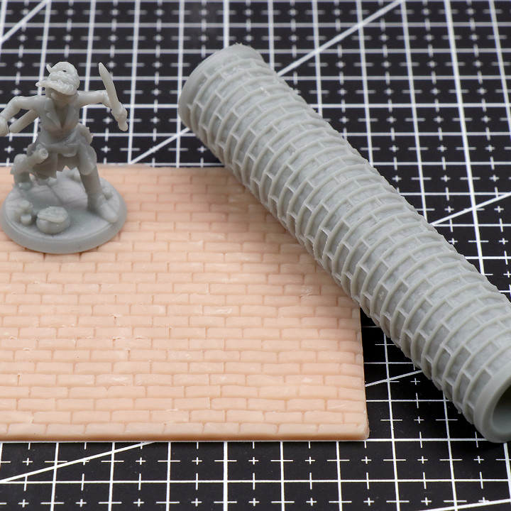 Large Brick Texture Roller