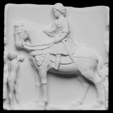Relief depicting Saint Martin and the Beggar