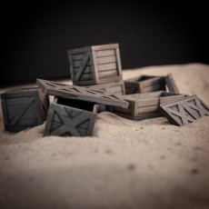 Wooden Crates for Dioramas and Tabletop