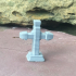 Cross Grave Stone for 28mm tabletop game graveyard or cemetery image