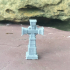Cross headstone for a graveyard or cemetery image