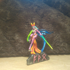 Picture of print of Moon Moth Knight - Medium Fighter - D&D - 32mm Scale