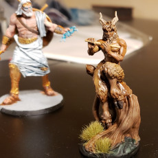 Picture of print of The Story Teller - Satyr - D&D 5E - 32mm