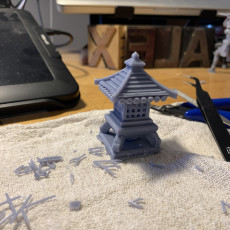 Picture of print of Chibi japanese Style Lamp / Shrine for Ninja All Stars or any Board Game / Tabletop
