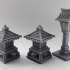 Chibi japanese Style Lamp / Shrine for Ninja All Stars or any Board Game / Tabletop image