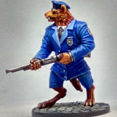 Picture of print of Rufus - Gnoll Policeman