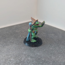 Picture of print of Frog Wizard