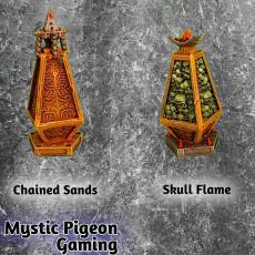Obelisks - Chained sands and skull flame graveyard / aztec terrain