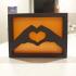 Heart Hands Shelf Ornament image