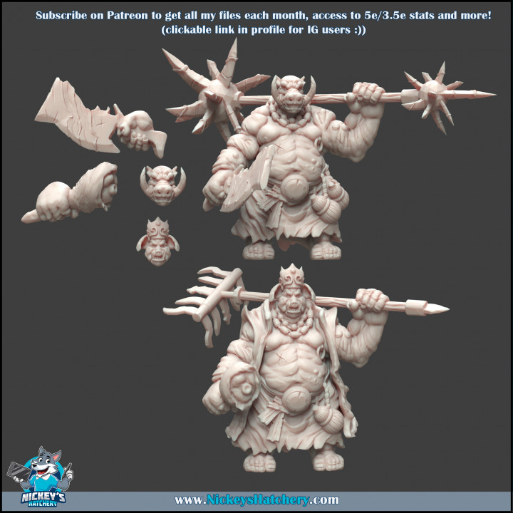 Varksoar Kit #1 - 2 Heads, 2 Bodies+Weapons, 2 Right Arms + 2 Ready-to-Print Minis + Pre-Supported Files's Cover