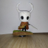 Epic Hollow Knight figure with a stand : The Knight print image