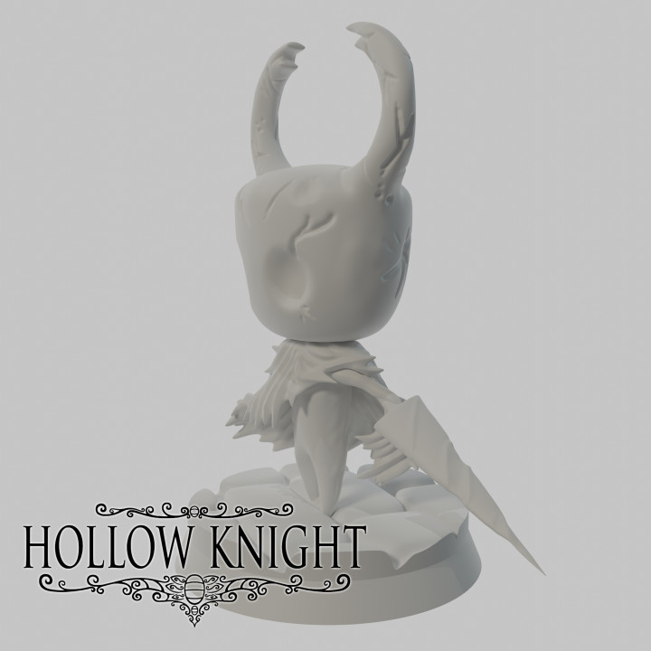 Epic Hollow Knight figure with a stand : The Knight