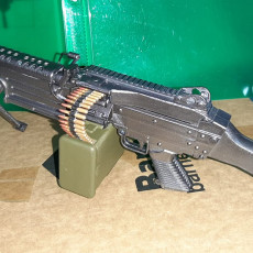 Picture of print of M249 SAW  FN MINIMI - scale 1/4
