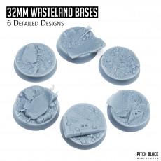 32mm Wasteland Bases - Detailed