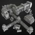 set of factory terrain image