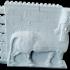 Montini Lamassu Winged Bull Wall Set (Lego Compatible) image
