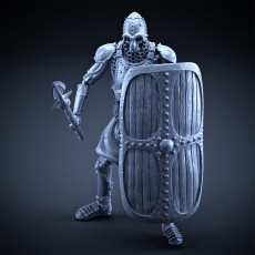 Skeleton - Heavy Infantry - Spear + Square Shield - Idle Pose