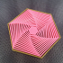 Concentric Hexagon - Desktop toy image