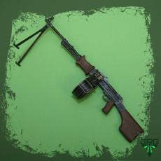 RPD light Machine Gun - scale 1/4