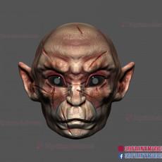 3D Print Files - Monkey Mask - Wukong Demon - Halloween Cosplay Helmet