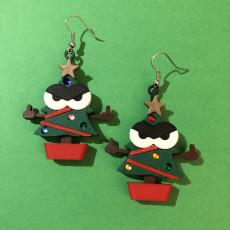 Kawaii Xmas Tree Earrings (Salty & GFY)