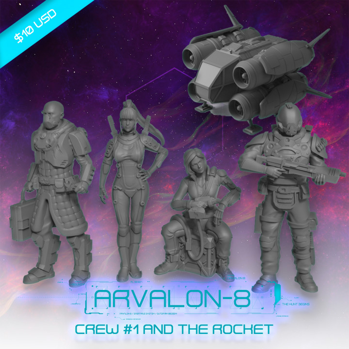 Arvalon-8 Crew 1 and the Rocket's Cover