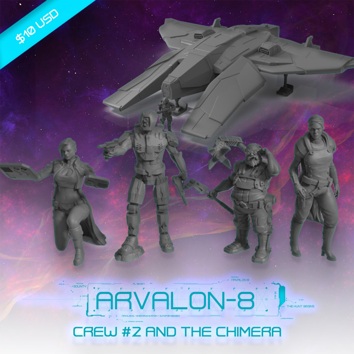 Arvalon-8 Crew 2 and the Z1 Chimera's Cover