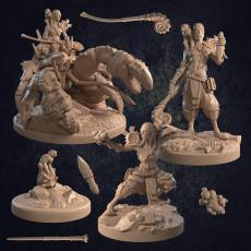 Mordechai and Scissorlock Aquatic Mage and Crab Mount - Presupported