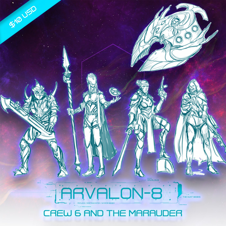 Arvalon-8 Crew 6 and the Marauder (Under Development)'s Cover