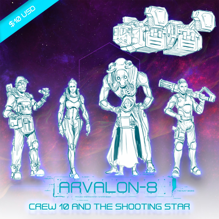 Arvalon-8 Crew 10 and the Shooting Star (Under Development)'s Cover