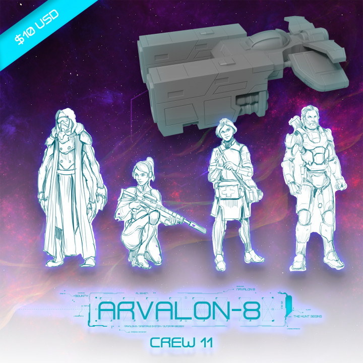Arvalon-8 (Unreleased) Crew 11 and The V65 Starfyre (Under Development)'s Cover