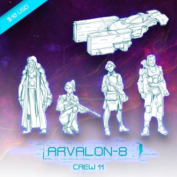Arvalon-8 (Unreleased) Crew 11 and a Classified Ship (Under Development)'s Cover