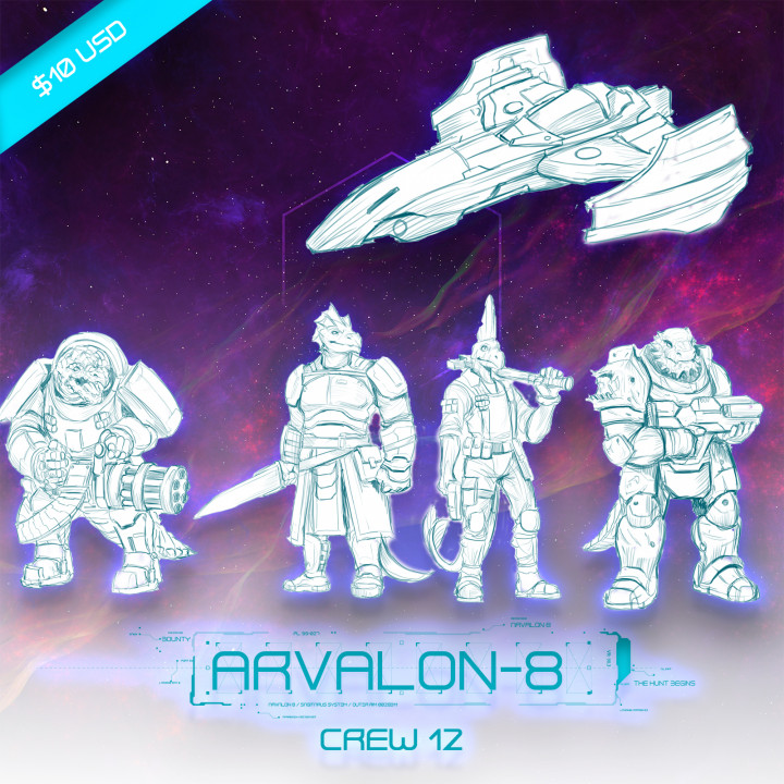 Arvalon-8 Crew 12 and the Classified (Under Development)'s Cover