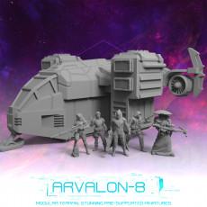 Arvalon-8 Zimeons' Crew and the Mako V2