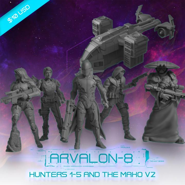 Arvalon-8 Zimeons' Crew and the Mako V2's Cover